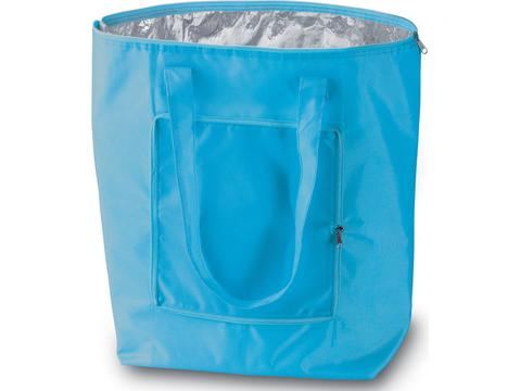 Foldable cooler shopping bag