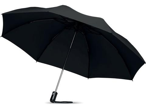 Foldable reversible umbrella