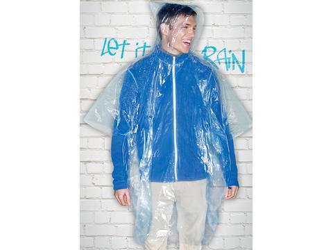 Opvouwbare wegwerp regenponcho