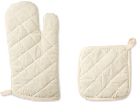 Kitchen oven glove and pot holder
