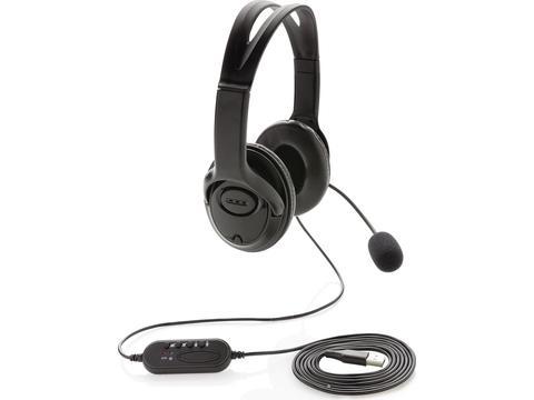 Over ear werk hoofdtelefoon met kabel