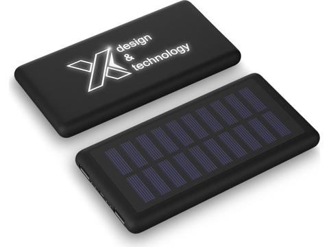 P30 light-up solar 8000 mAh powerbank