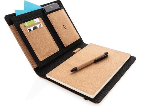 Deluxe cork portfolio A5 with pen