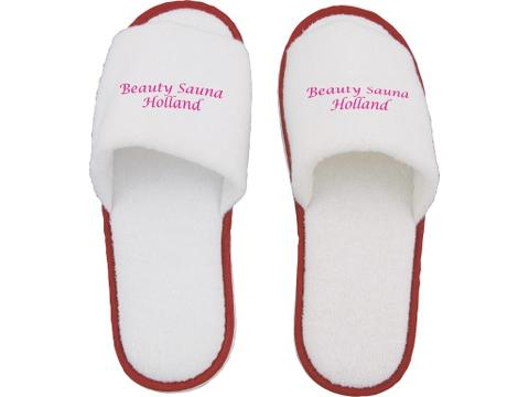Paar slippers, open teen