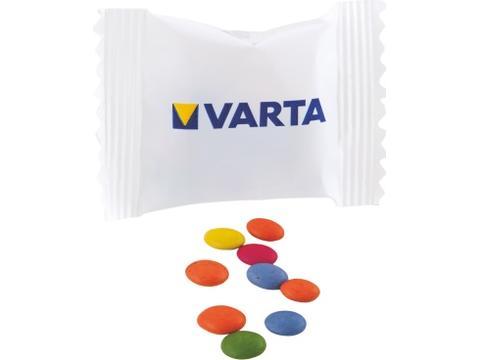 Sachet avec 5 gr. chococarletties 1-3 couleurs