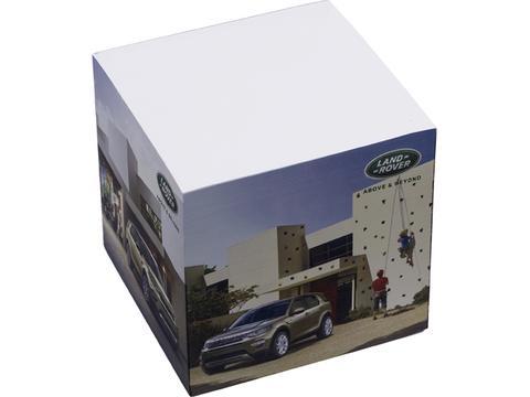 Papierkubus 4 zijden bedrukt - 2 designs - 750 vellen