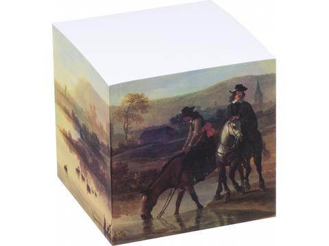 Papierkubus 4 zijden bedrukt - 4 designs - 750 vellen