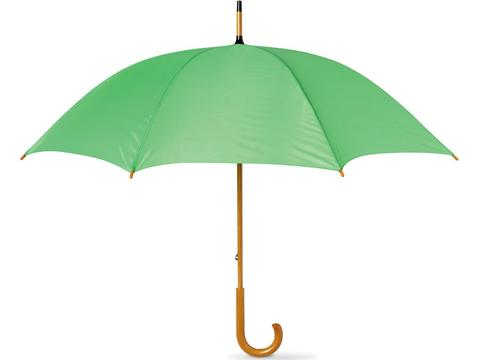 Wooden shaft umbrella