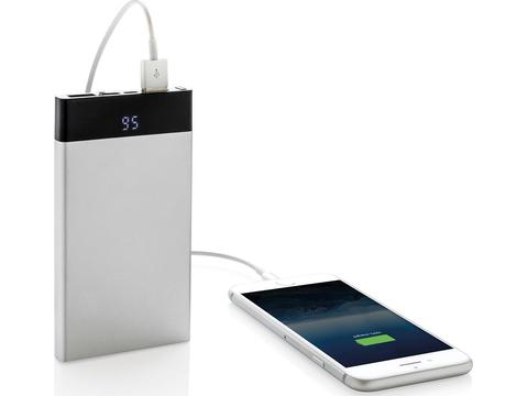 Platte powerbank met digitaal scherm - 6000 mAh