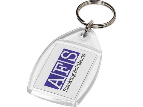 Rhombus keychain with plastic clip