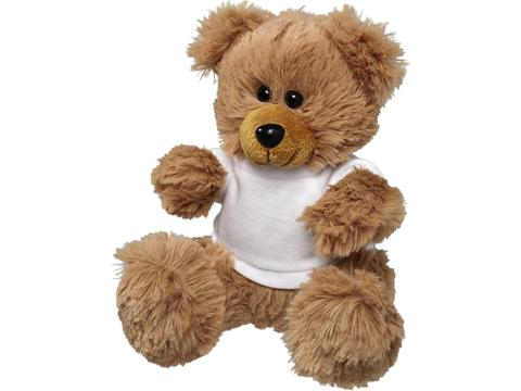 Plush sitting bear with shirt