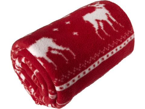 Polar fleece reindeer blanket