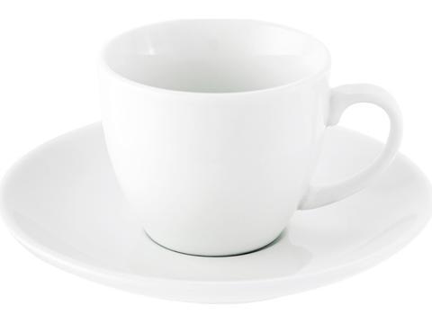 Porseleinen kop en schotel - 80 ml