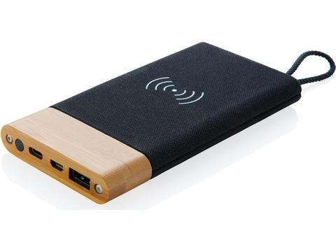 Bamboo X wireless charging powerbank