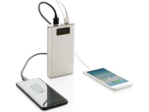 Powerbank met display en 2 USB poorten - 10.000 mAh