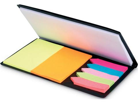Colour stickers and notebook