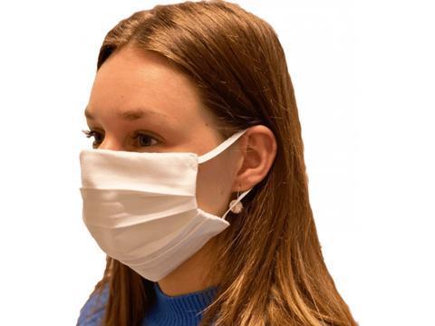 Premium Mondmasker uit katoen 2 lagen + opening voor filter &  bedrukt met je logo