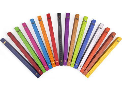Professionele houten vouwmeters Color - 2 meter