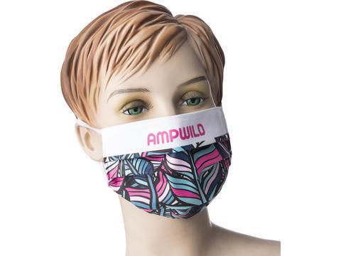 Promo stoffen mondmasker met bedrukking naar keuze - Wasbaar