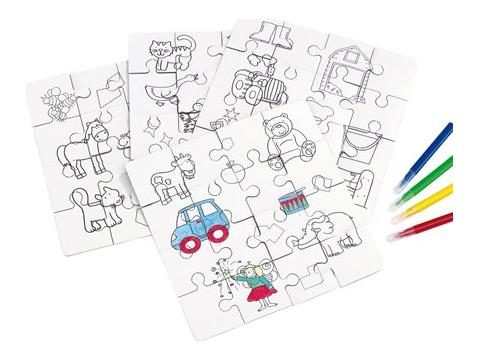 Puzzels om in te kleuren