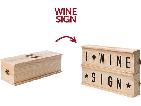 Rackpack Wine Sign