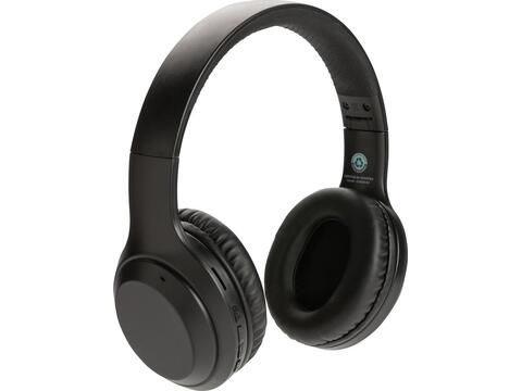 RCS standaard recycled plastic hoofdtelefoon