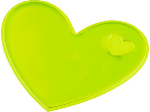 Reflecterende sticker hart