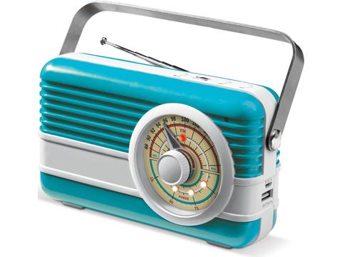 Retro FM radio speaker powerbank