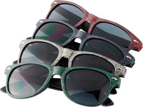 Retro zonnebril met gemêleerde afwerking