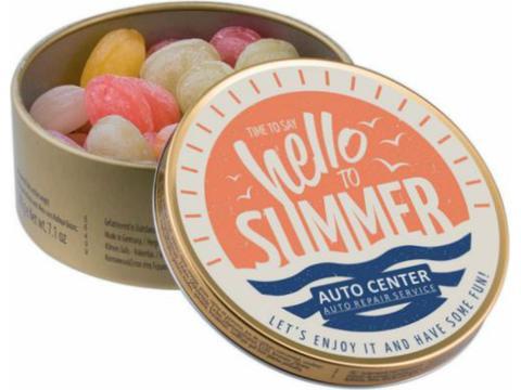 Rond blik met Travel Sweets
