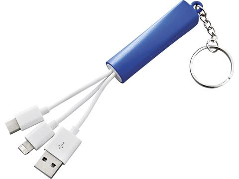 Route 3-in-1 Charging Cable with Key-ring