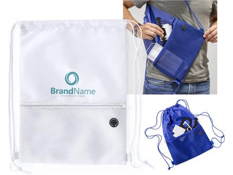 Drawstring backpack - hygiene kits