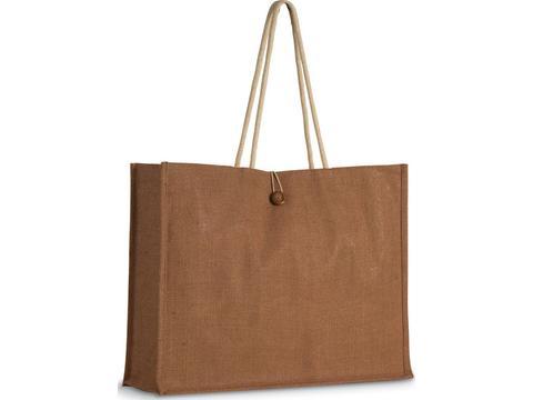 Jute shopper bag with handles