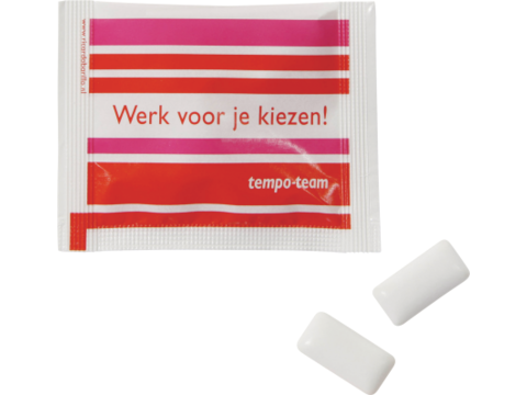 Sachet avec 2 chewing gums sans sucre