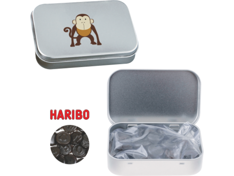 Boîte à charnière avec de réglisse Haribo