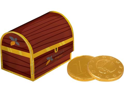 Treasury box with chocolate coins
