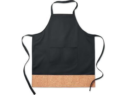 Kitchen apron with cork hem