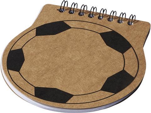 Score voetbal vorm notitieboek