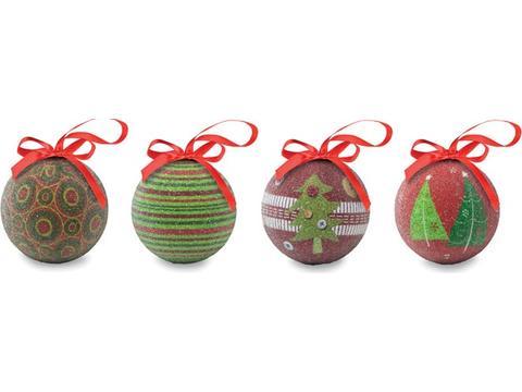Set 4 kerstballen