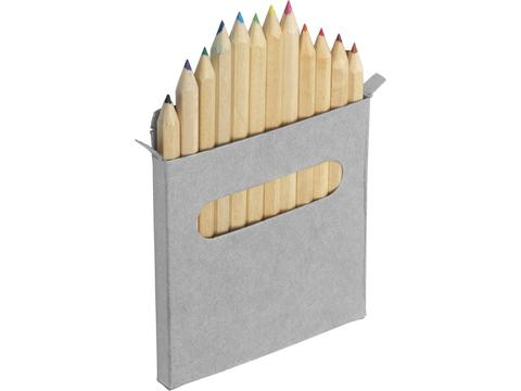 Twelve colour pencil set