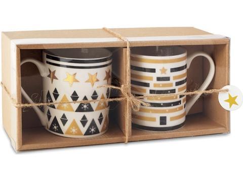 Set 2 mugs in gift box