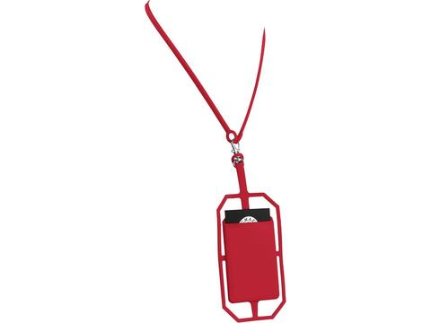 Silicone RFID Card Holder with Lanyard