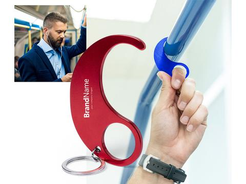 Anti-contact hygienic keyring