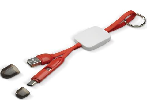 Porte-clés câble de chargement