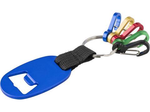Porte-clés avec ouvre-bouteille et mousquetons