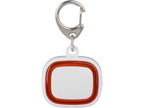 Sleutelhanger met oplaadbaar sleutellampje en logo verlichting