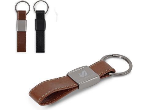 Keyring Metal, Real Leather