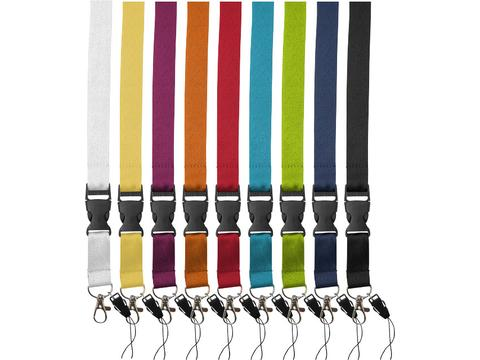 Sagan lanyard with detachable buckle, phone holder