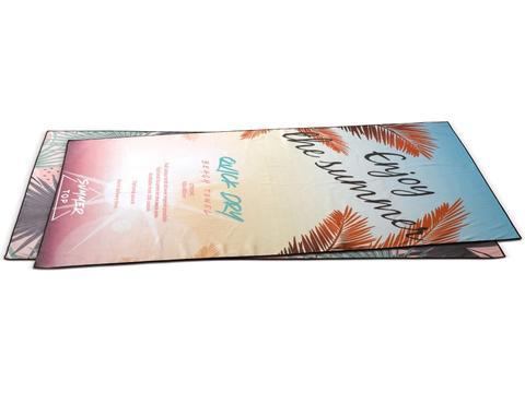 Serviette de plage à séchage rapide avec impression