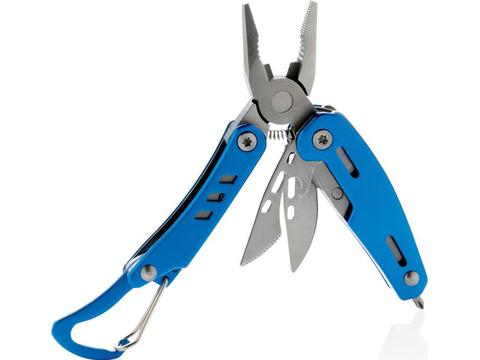 Solid mini multitool with carabiner